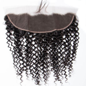 13x4 Curly Lace Frontal Brazilian Curly Human Hair Extensions