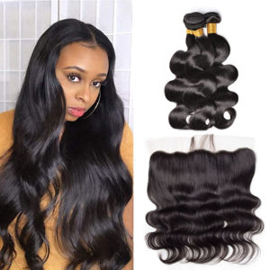 3 Bundles Body Wave Weave Hair With 13x4 Lace Frontal