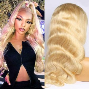 613 blond body wave wig human hair- 4