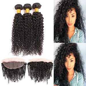 curly human hair bundles with frontal-2