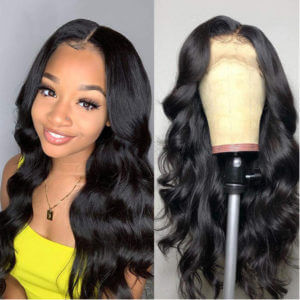 human hair lace closure wigs body wave style-13