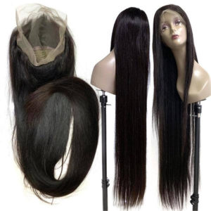 Full lace human hair wigs straight-2