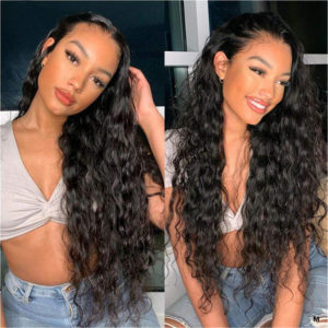loose wave lace front human hair wigs-3
