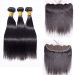 straight human hair bundles with frontal-1