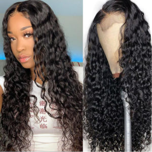 water wave lace front human hair-2