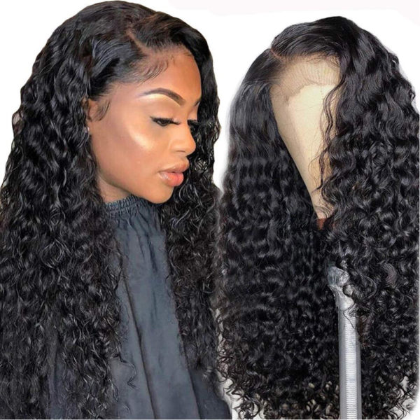 water wave lace front human hair-7