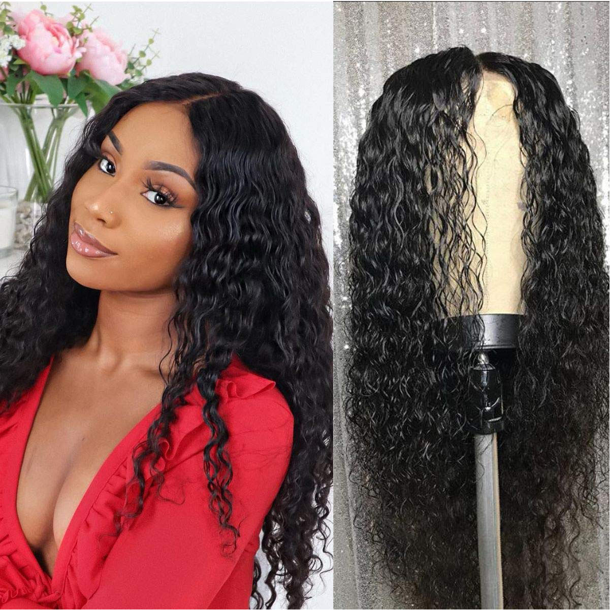 water wave lace front human hair-8